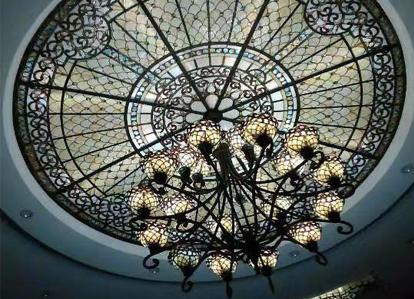 彩色玄关玻璃穹顶
