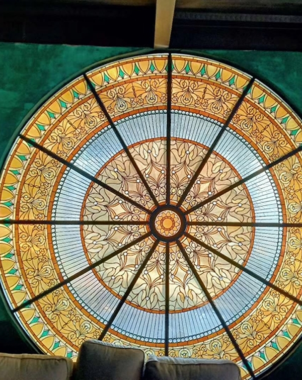 彩色玻璃穹顶玻璃制作描述