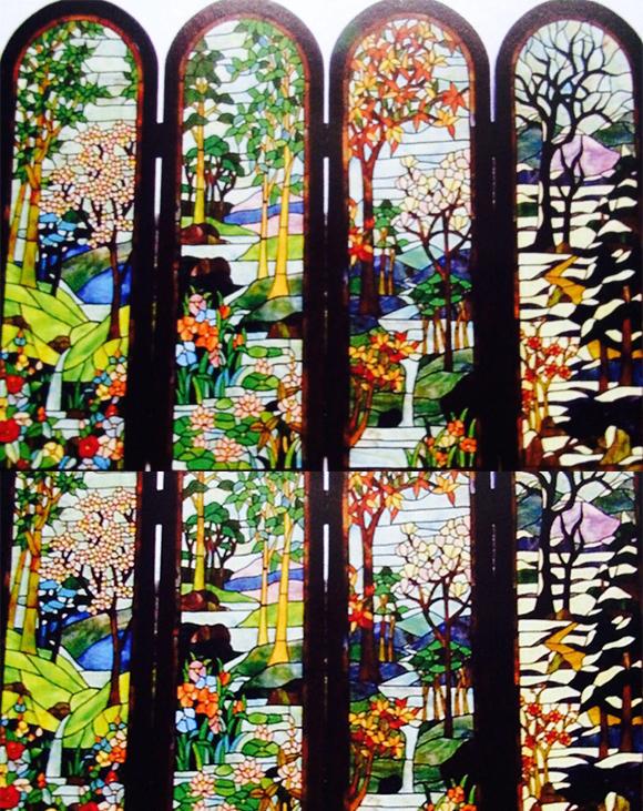 彩色玻璃壁画