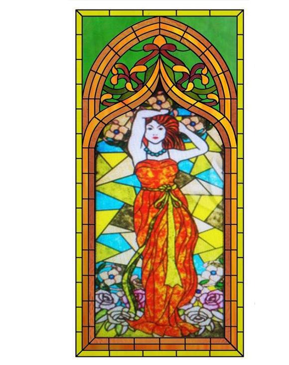 彩色玻璃画