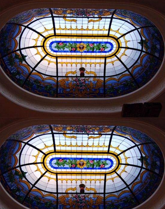 彩色玻璃穹顶建筑