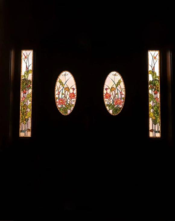 室内彩色玻璃穹顶