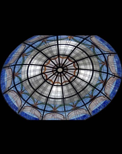 艺术彩色玻璃穹顶