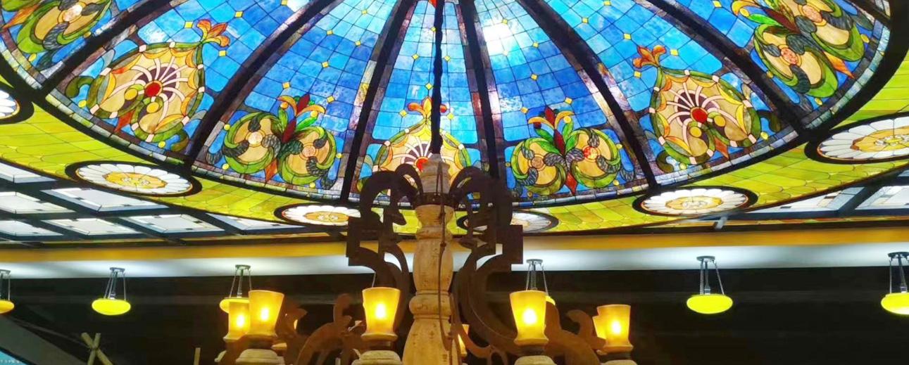 酒店玻璃装饰玻璃穹顶